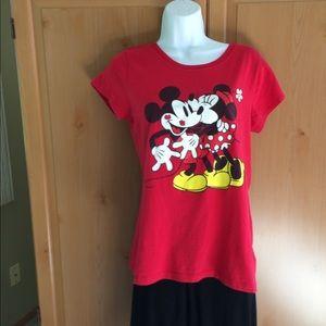 Mickey and Minnie red tee shirt